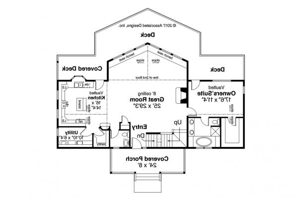 Cottage House Plan - Alpenview 31-003 - First Floor Plan