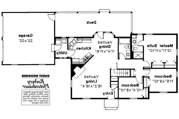 Cottage House Plan - Ayersville 42-002 - Floor Plan