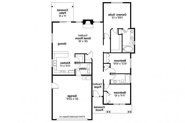 Cottage House Plan - Barlow 30-694 - Floor Plan