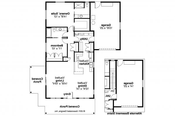 Cottage House Plan - Branell 30-485 - Floor Plan