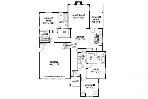 Cottage House Plan - Brookstone 31-066 - Floor Plan
