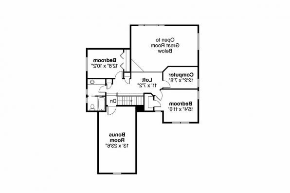 Cottage House Plan - Elkhorn 30-733 - 2nd Floor Plan