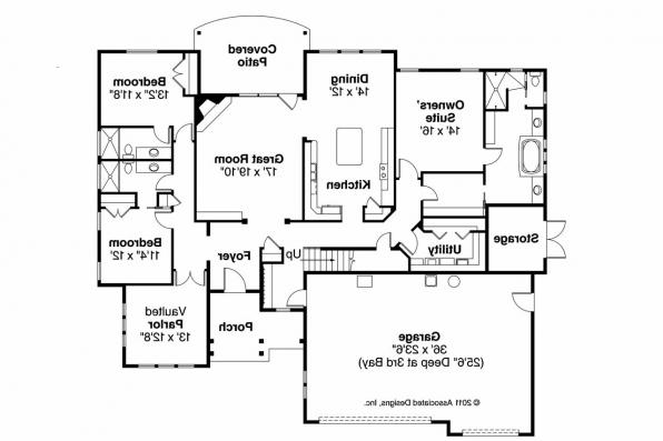 Cottage House Plan - Gladstone 30-786 - Floor Plan