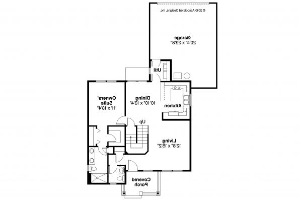 Cottage House Plan - Lawrence 30-103 - 1st Floor Plan