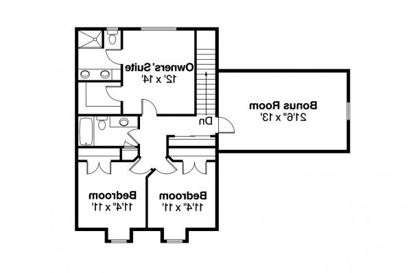 Cottage House Plan - Molalla 30-685 - Second Floor Plan