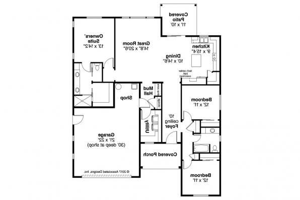 Cottage House Plan - Siuslaw 31-065 - Floor Plan