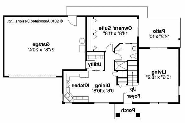 Cottage House Plan - Stapleton 30-478 - 1st Floor Plan