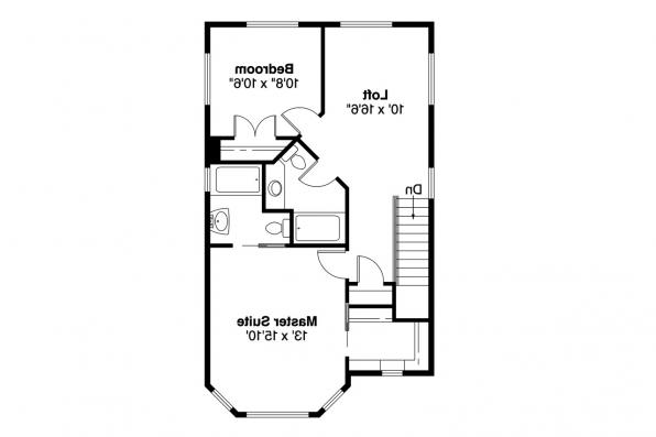 Cottage House Plan - Watkins 30-401 - 2nd Floor Plan