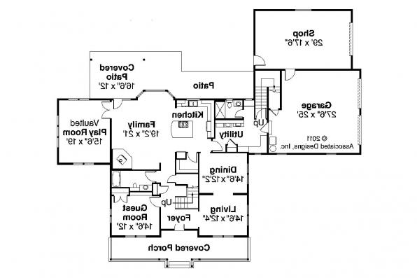 Country House Plan - Ambrosia 30-752 - 1st Floor Plan
