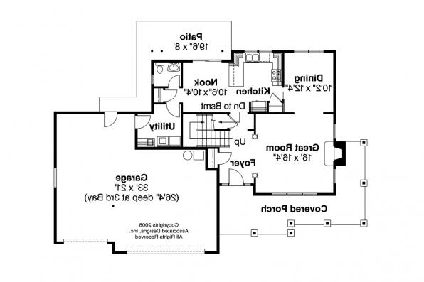 Country House Plan - Arundel 30-200 - 1st Floor Plan