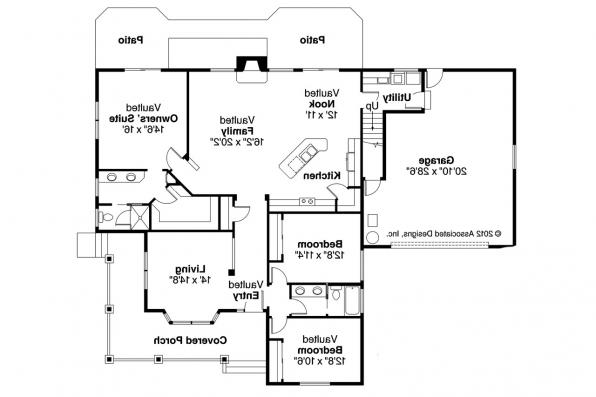 Country House Plan - Binghamton 10-259 - 1st Floor Plan