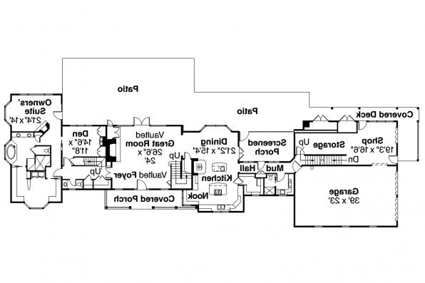 Country House Plan - Brookfield 30-646 - 1st Floor Plan
