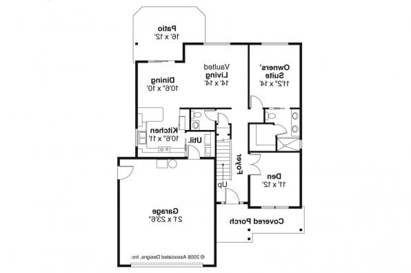 Country House Plan - Chatham 30-623 - 1st Floor Plan