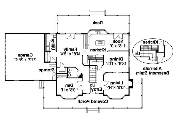 Country House Plan - Cimarron 10-208 - 1st Floor Plan