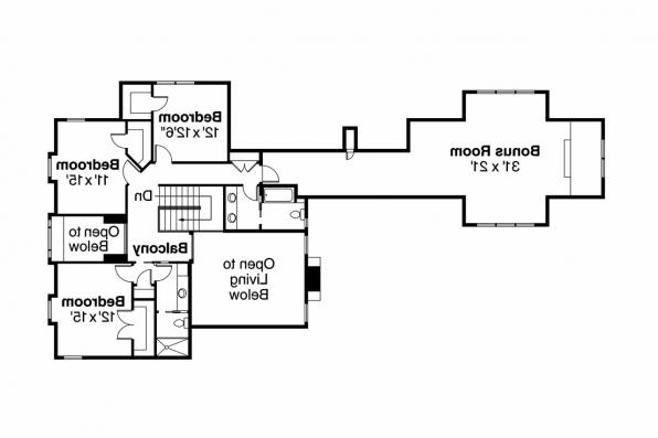 Country House Plan - Coburg 30-637 - 2nd Floor Plan