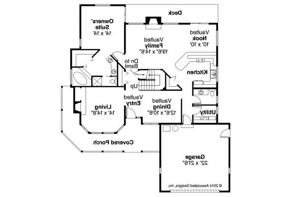 Country House Plan - Columbia 10-009 - 1st Floor Plan