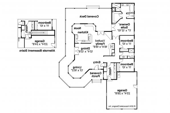 Country House Plan - Cortland 10-195 - Floor Plan