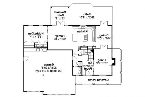 Country House Plan - Craigmont 30-464 - 1st Floor Plan