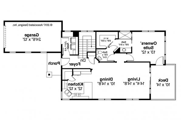 Country House Plan - Creekside 31-067 - Main Floor Plan