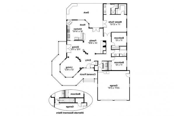 Country House Plan - Crescent 10-106 - Floor Plan