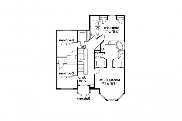 Country House Plan - Evansville 30-045 - 2nd Floor Plan