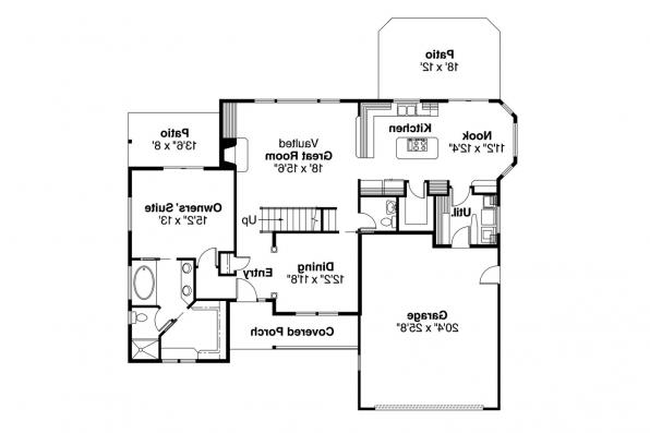 Country House Plan - Everett 30-176 - 1st Floor Plan