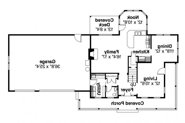 Country House Plan - Gifford 30-363 - 1st Floor Plan