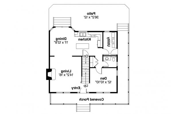 Country House Plan - Green Acres 70-003 - 1st Floor Plan