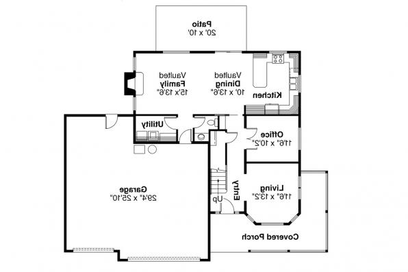 Country House Plan - Kaitlyn 30-338 - 1st Floor Plan