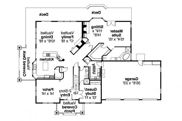 Country House Plan - Kendrick 30-236 - 1st Floor Plan