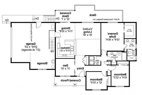 Country House Plan - Lakeridge 31-069 - Floor Plan