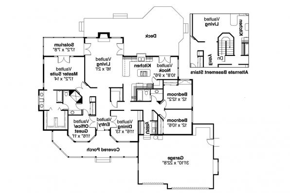 Country House Plan - Lasson 10-203 - Floor Plan
