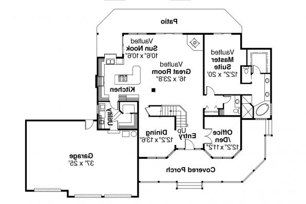 Country House Plan - Loveland 30-282 - 1st Floor Plan