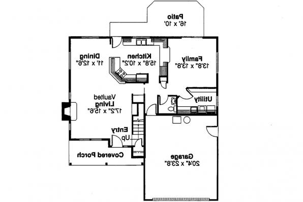 Country House Plan - Malta 30-168 - 1st Floor Plan