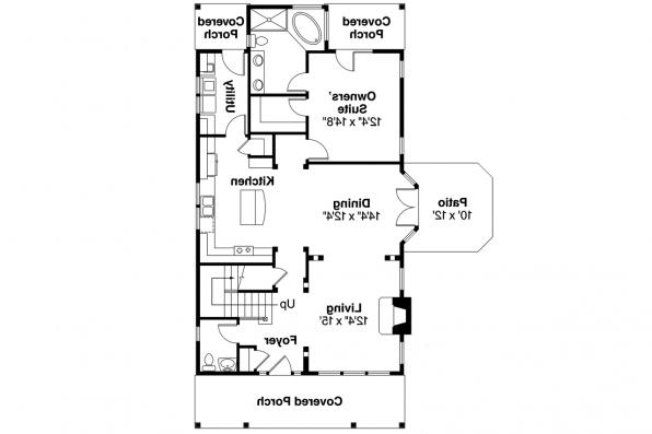 Country House Plan - Mayberry 30-619 - First Floor Plan