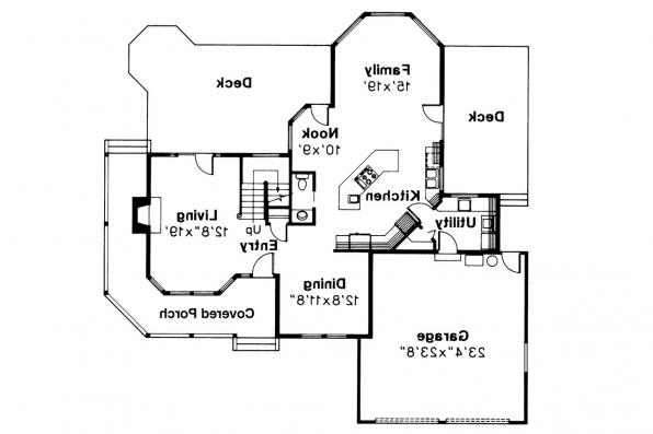 Country House Plan - Melville 10-096 - 1st Floor Plan