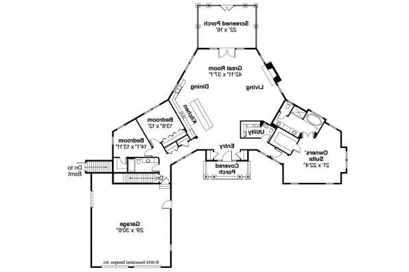 Country House Plan - Mountain View 10-558 - Floor Plan