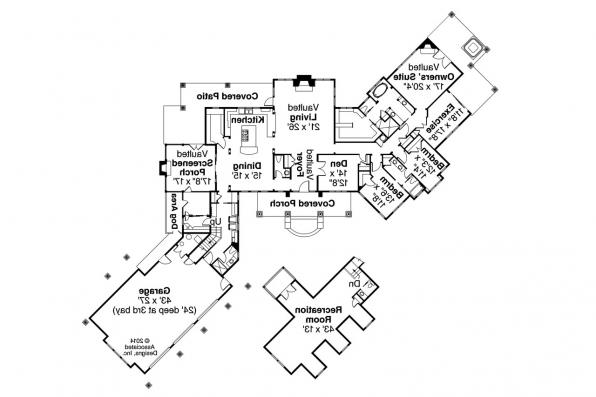 Country House Plan - Nottingham 30-965 - Floor Plan