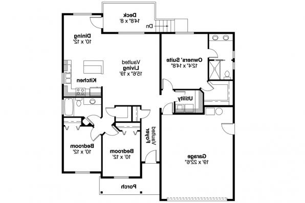 Country House Plan - Olmstead 30-548 - Floor Plan