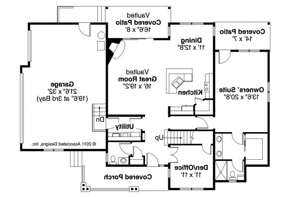 Country House Plan - Ontario 30-830 - 1st Floor Plan