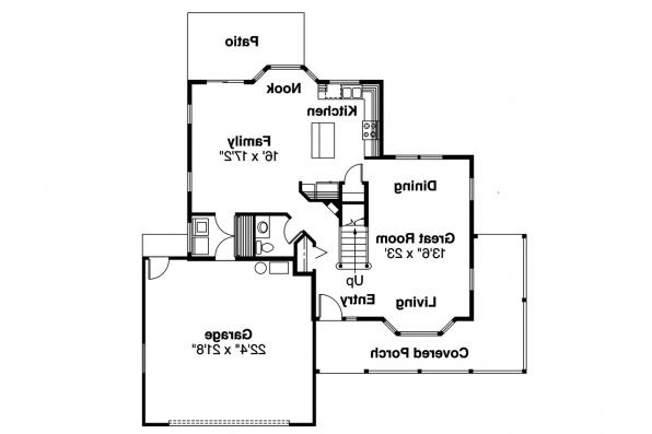 Country House Plan - Prescott 10-260 - 1st Floor Plan