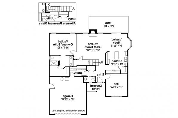 Country House Plan - Radbourne 30-562 - 1st Floor Plan