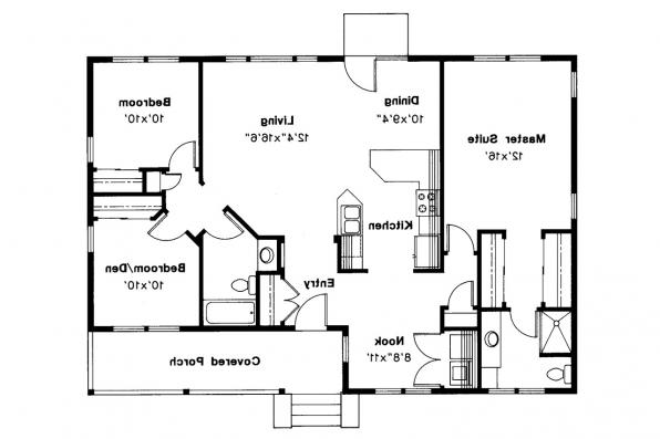 Country House Plan - Sandberg 30-083 - Floor Plan