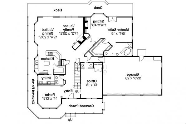 Country House Plan - Shelburn 30-035 - 1st Floor Plan