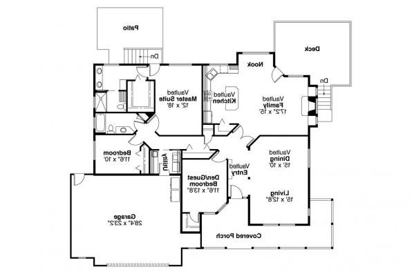 Country House Plan - Shreveport 30-231 - Floor Plan