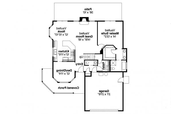 Country House Plan - Susanville 30-114 - 1st Floor Plan