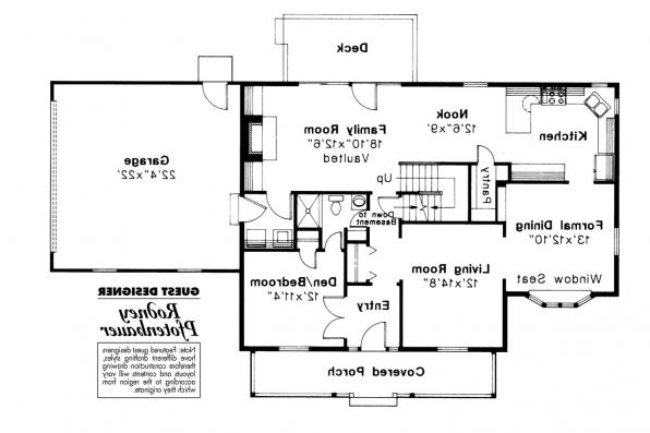 Country House Plan - Trowbridge 42-005 - 1st Floor Plan