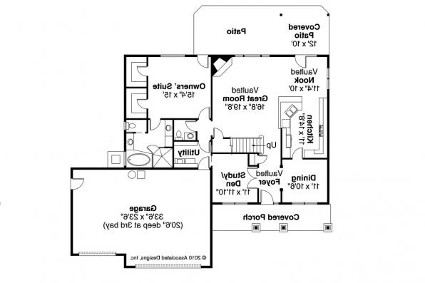 Country House Plan - Whitehaven 30-431 - 1st Floor Plan
