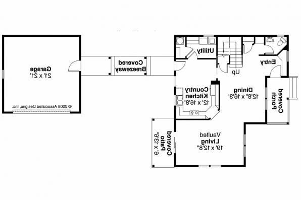 Country House Plan - Ellisville 30-588 - 1st Floor Plan