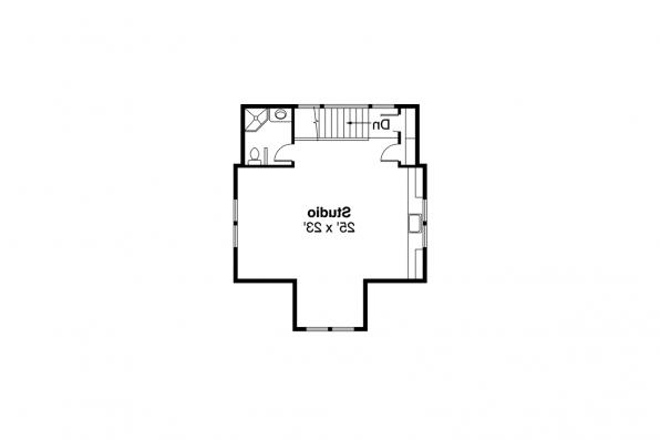 Craftsman Home Plan - Mapleton 30-506 -  2nd Floor Garage Plan